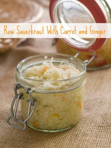 Raw Sauerkraut with Carrot & Ginger